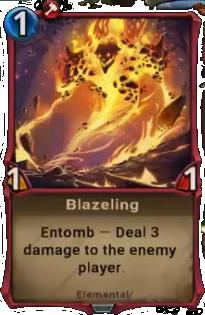 Blazeling card