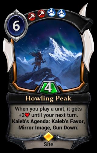 Howling Peak card