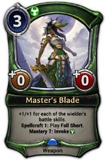 Master's Blade