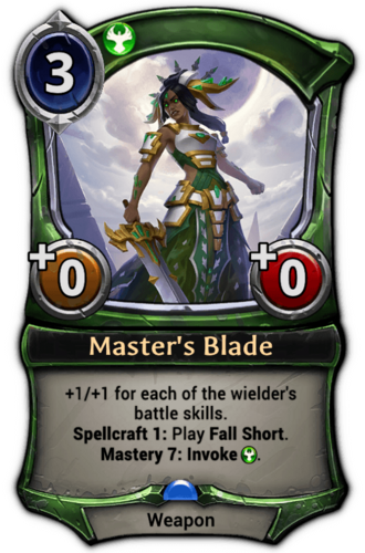 Master's Blade card