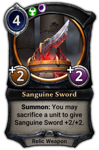 Sanguine Sword card
