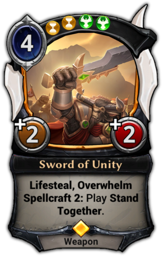 Sword of Unity card