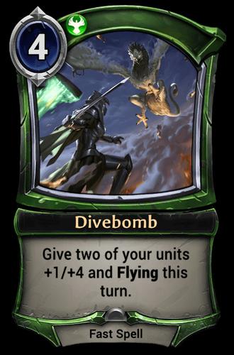 Divebomb card