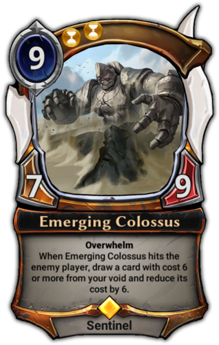 Emerging Colossus card