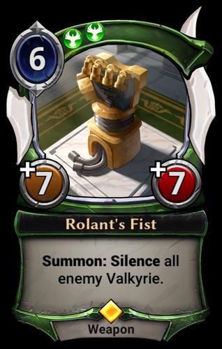 Rolant's Fist card