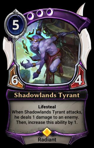 Shadowlands Tyrant card