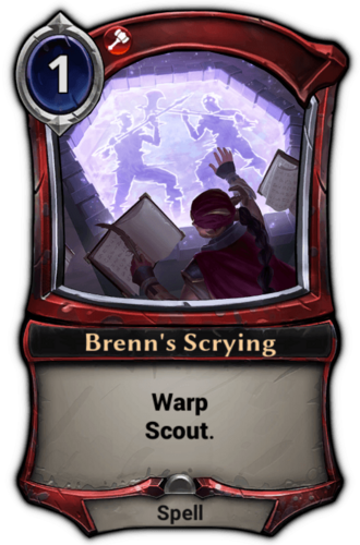 Brenn's Scrying card