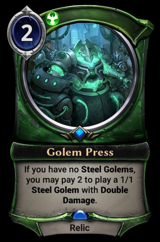 Golem Press card