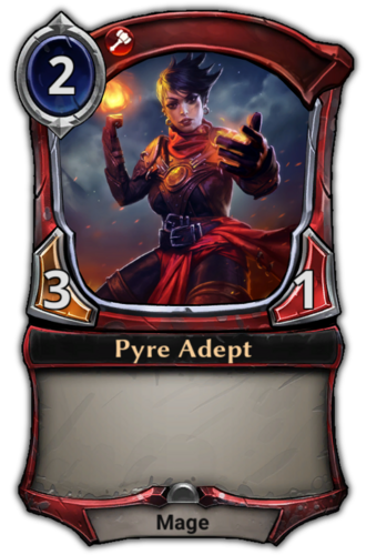 Pyre Adept card