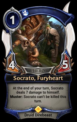 Socrato, Furyheart card