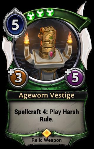 Ageworn Vestige card