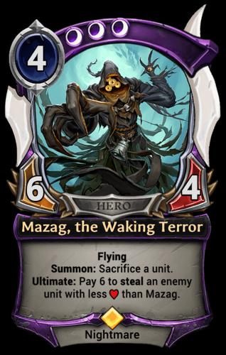 Mazag, the Waking Terror card