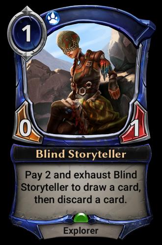 Blind Storyteller card