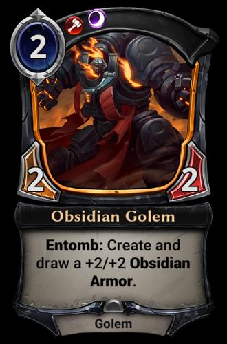Obsidian Golem card