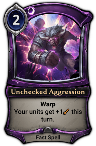 Unchecked Aggression card