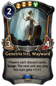 Genetrix Irel, Wayward