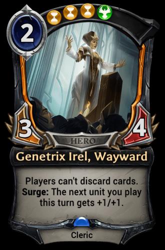 Genetrix Irel, Wayward card