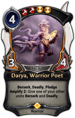 Darya, Warrior Poet card