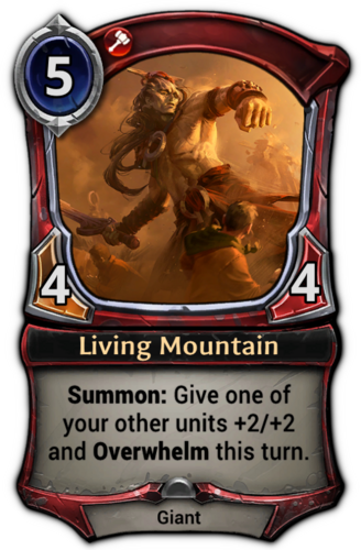 Living Mountain card