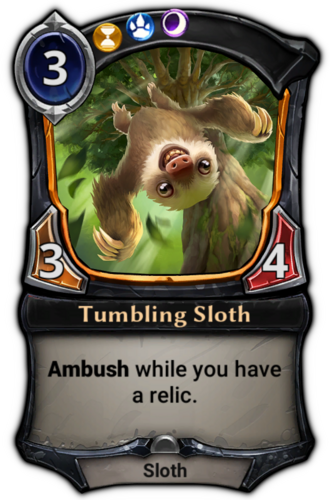 Tumbling Sloth card
