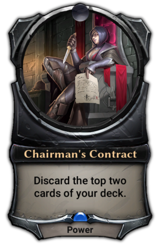 Chairman's Contract card