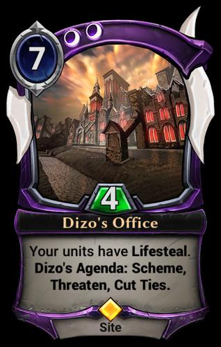 Dizo's Office card