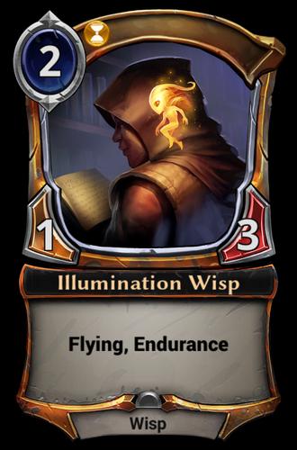 Illumination Wisp card