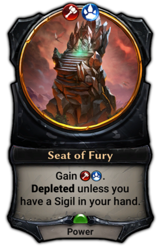 Seat of Fury card