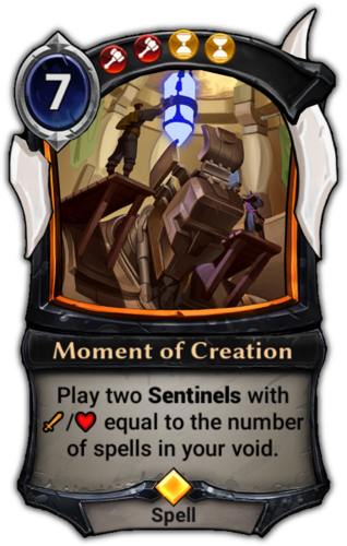 Moment of Creation card