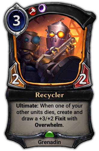 Recycler card