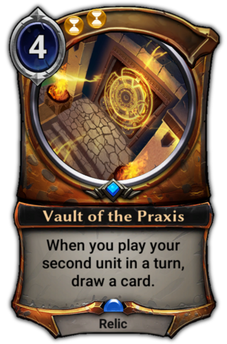 Vault of the Praxis card