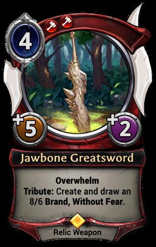 Jawbone Greatsword card