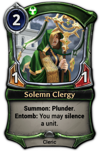 Solemn Clergy card
