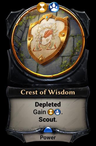 Crest of Wisdom card