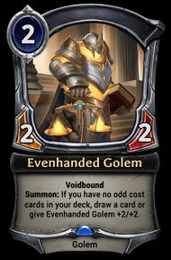 Evenhanded Golem