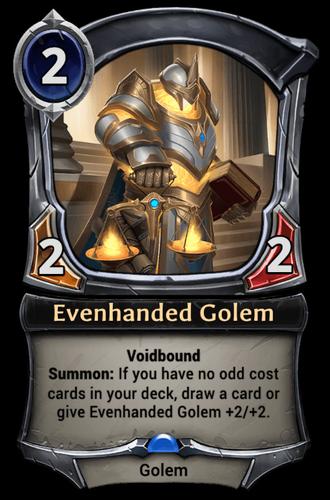 Evenhanded Golem card