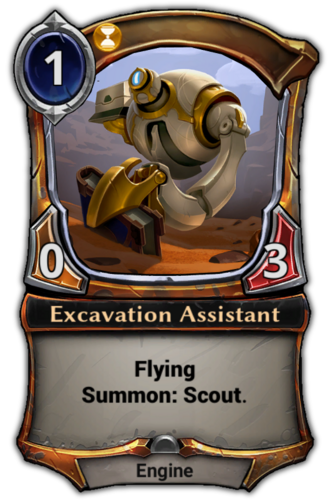 Excavation Assistant card