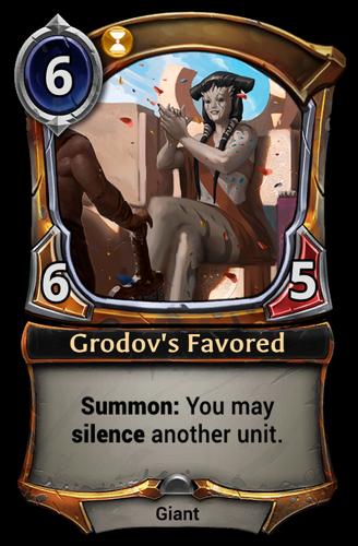 Grodov's Favored card