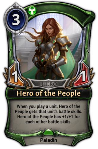 Hero of the People card