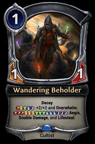 Wandering Beholder card