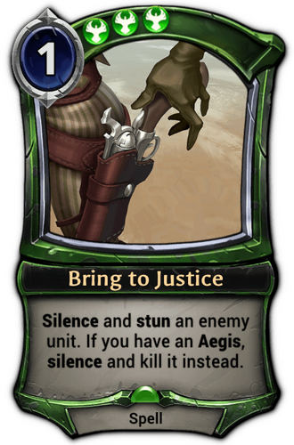 Bring to Justice card