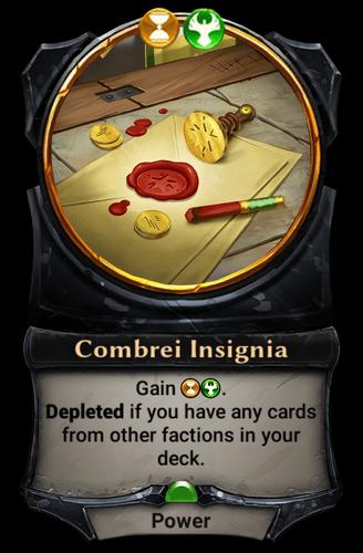 Combrei Insignia card