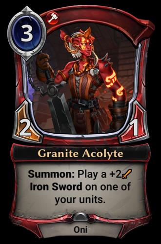 Granite Acolyte card