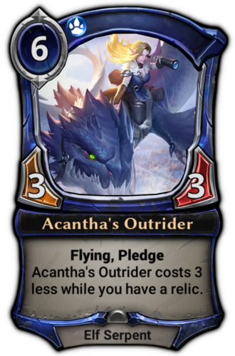 Acantha's Outrider card