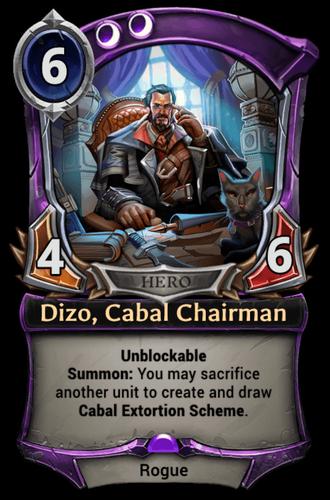 Dizo, Cabal Chairman card