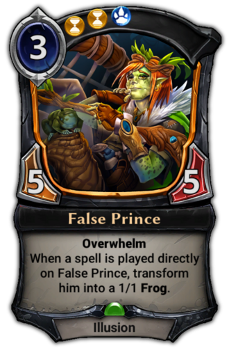 False Prince card