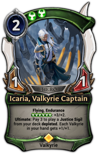 Icaria, Valkyrie Captain card