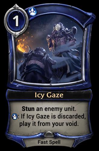 Icy Gaze card