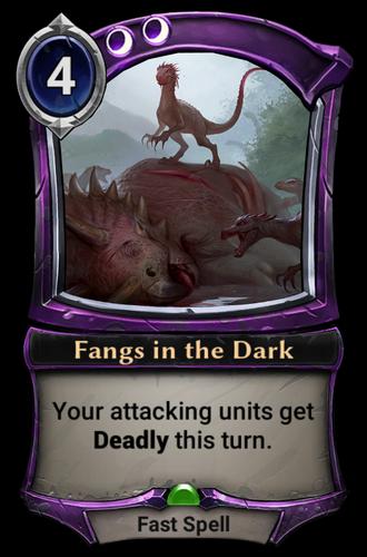 Fangs in the Dark card