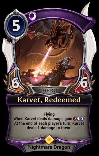 Karvet, Redeemed card